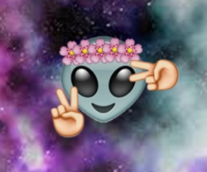 alien, flowers, and hi image