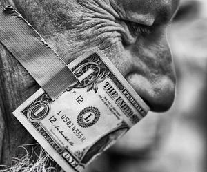 money, black and white, and old image