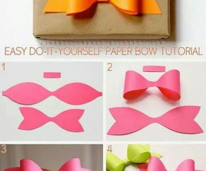 gift bow, paper bow, and diy paper bow image