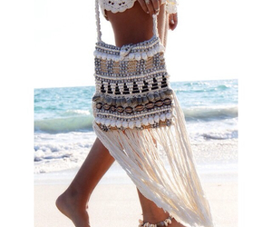 beach wear, beaded, and boho image