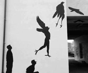 fly, bird, and art image