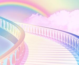 rainbow, pastel, and kawaii image