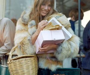 jane birkin, model, and fur image