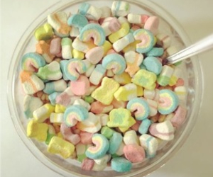 food, lucky charms, and cereal image