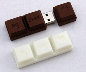 chocolate, usb, and sweet image