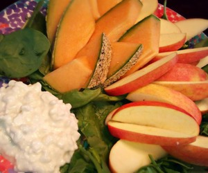 cheese, cottage, and salad image