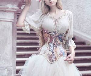blonde, photo, and corset image