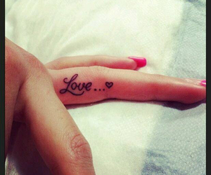 finger, heart, and style image