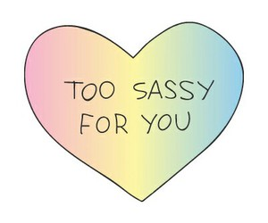 sassy, colorful, and heart image