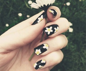 flowers, nails, and style image