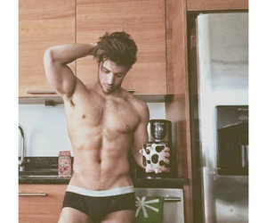 abs, brunette, and coffee image