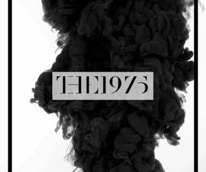the 1975, black and white, and smoke image