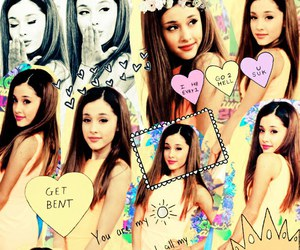 ariana grande and Collage image
