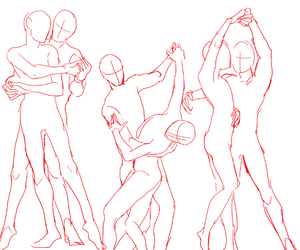 couple, dancing, and drawing image