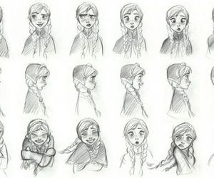 anna, drawing, and expressions image