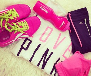 pink, sport, and fitness image