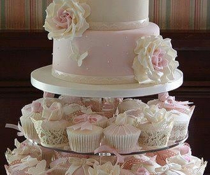 cake, wedding cake, and cupcake image