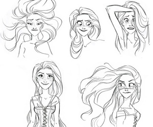 animation, black and white, and disney image