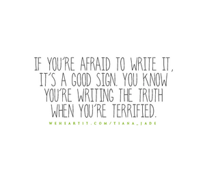 quote, saying, and terrified image