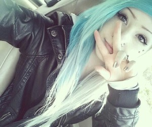 hair, blue, and dyed hair image