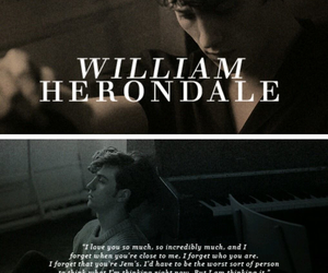 books, shadowhunters, and william herondale image