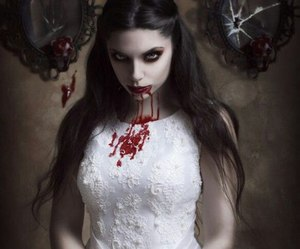 blood, girl, and gothic image