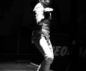 black and white, fencing, and sabre image