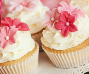 cupcake, flower, and sweet image