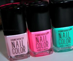 pink, nail polish, and nails image