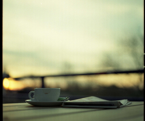 sunset and teacup image