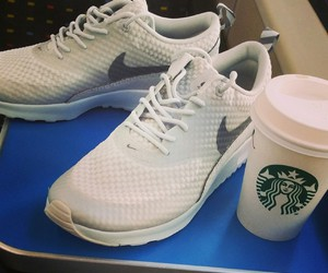 nike, shoes, and starbucks image