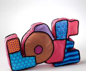 pillow, pink, and love image