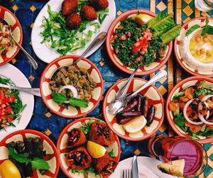 عربي, arabic food, and حمص image