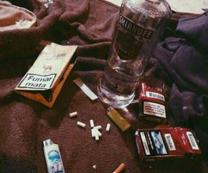 cigarette and night image