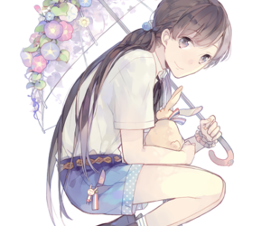 anime, girl, and umbrella image