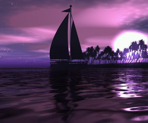 purple, water, and boat image