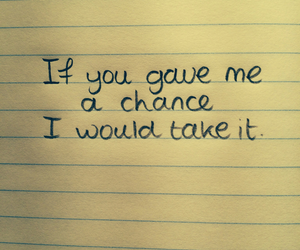 quote, chance, and text image