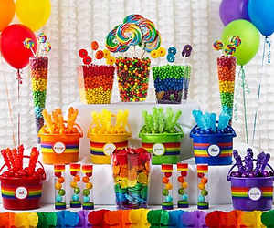 rainbow, sweets, and candy image