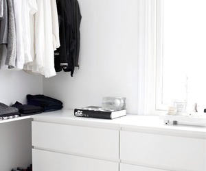 white, clothes, and black image