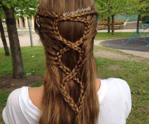 beautiful, hairstyle, and fishtail image