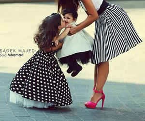 baby, fashion, and family image