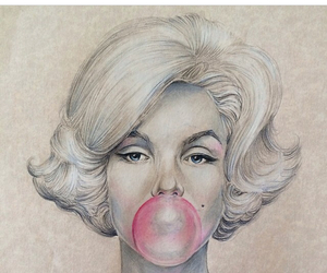 drawing, Marilyn Monroe, and talent image