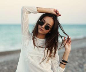 beach, fashion, and hair image