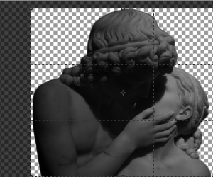 sculpture; pale image
