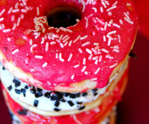 donuts, red, and sweet image