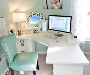 room, office, and desk image