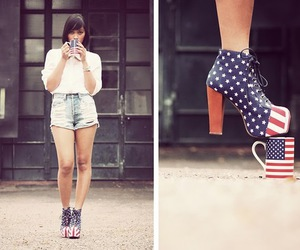 america, heels, and shoes image