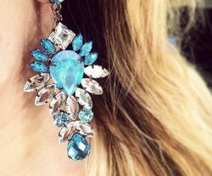 earrings, blonde, and fashion image