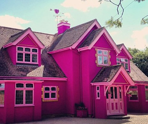 pink, house, and home image