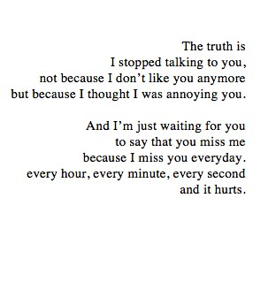 And that is why i stop talking to you on We Heart It